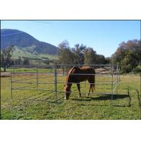 Cheap 1.8m Height Cattle Farm Panels , Animal Metal Horse Fence Panels Flexible for sale