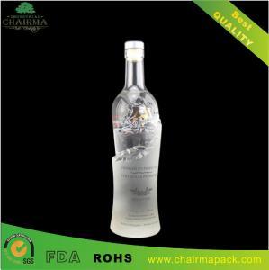 Best Special-Shape Embossing  Glass Bottle for Vodka wholesale