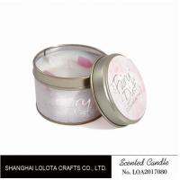 Best Small Soy Tealight Candles , Tin Can Candles Raspberry / Amber Fragrance wholesale