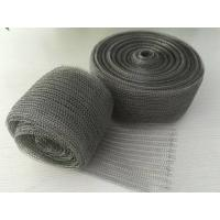 98% Efficiency Stainless Steel Knitted Wire Mesh Demister Pad Flat / Corrugated Surface