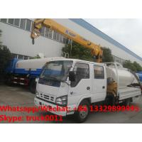 Best ISUZU brand fecal suction truck with mobile telescopic boom for sale,Factory sale best price ISUZU boom truck crane wholesale