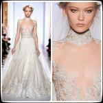 Best 2014 Vintage Zuhair Murad Plus Size Designer Wedding Gowns High Neck Lace A Line wholesale