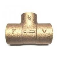Best 1/2 Female Thread Brass Plumbing Tee Fitting Used In Water / Gas wholesale