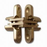 China Zinc-alloy Conceal Cabinet Hinges with Brass or Nickel Plating on sale