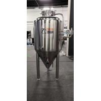 China SUS 304 conical Fermenter 300L beer fermentation tanks With Cooling Jacket on sale