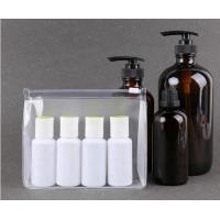 China Matte Clear Cosmetic Bags Clothes Storage Zip Lock Reclosable Frost Packing Pouch on sale