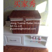 China willow storage basket with cover and mat laundry basket large style hot sale 2016 on sale