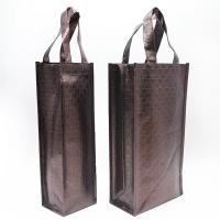 Best Wholesale custom new brown fashion pp non woven shopping bag aluminum foil tote wine bag wholesale