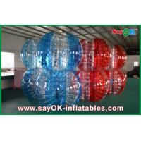 Best Red And Blue PVC / TPU Bumper Ball Bubble Football For Adult / Children Playing wholesale