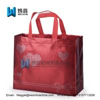Best Red Aluminum film wholesale cheap ultrasonic custom logo print 100gsm  non woven shopping bag wholesale