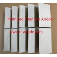 Cheap 1 micrometer thickness Platinized Titanium anodes for sale