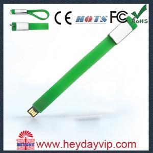 China Silicon wrist band, bracelet promotion usb flash memory 2.0 on sale