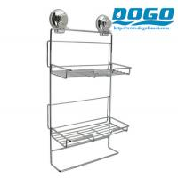 Buy cheap SUS304 CHROME Suction Adjustable 2 Tier Bathroom storage from wholesalers