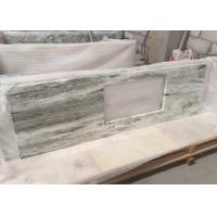 China Multi Color Green Marble Stone Countertops , Marble Kitchen Countertops CE Certification on sale