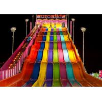 Cheap Hotels Big Water Slides / Fiberglass Pool Slide For Outdoor Water Parks for sale