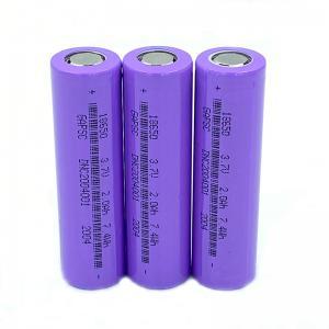 Best ROSH 3.7V 2000mAh 18650 Lithium Ion Battery wholesale