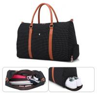 China Ready To Ship Canvas Travel Bags Garment Luggage Multi-Functional Travelling Bag Shoes Duffle Bags on sale
