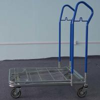 Best Folding Shopping Trolley With Wheels , Metal Shopping Cart BSCI Certification wholesale