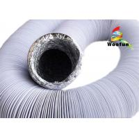 Best Black And White Fire Rated Flexible Ducting , Round PVC / Aluminum Foil Combine Duct wholesale