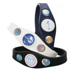 China Power Custom Silicone Bracelets Silicone Balance Bracelet 3 Holograms on sale