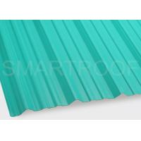 Best Upside Tile PVC Corrugated Roofing Sheets In Light Green Noise Reducing wholesale