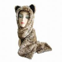 Best Oversize/Long Hats, Winter Leopard Print Long Trooper with Fake Fur Front, Earflap, Fleece Lining wholesale