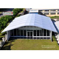 Best Arch Large White Tent With Glass Wallss And Doors For Elegant multiply Outdoor Events wholesale