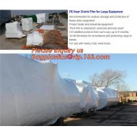China biodegradable shrink wrap 200 mic construction industrialJumbo construction industrial uv shrink wrap for yacht covering on sale