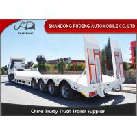 Best Three / Four Axles 60 Ton Lowboy Trailer With Mechanical / Hydraulic Ramp wholesale
