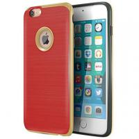 Buy cheap Red TPU Hard PC Bumper Hybrid Protective Personalized Iphone Case Brushed Texture product