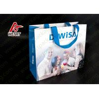 PP Ribbon Custom Laminated Non Woven Bag For Business Promotional
