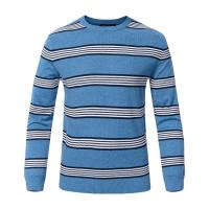 Best Stripe Winter Woolen Sweater For Mens , Crew Neck Mens Pullover Sweater wholesale
