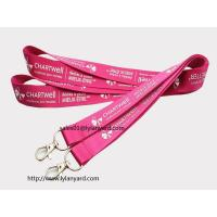 China Imprinted Polyester Lanyard, Branded Neck Lanyard with Lobster Claw on sale