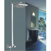 China 8 Brass square Wall Mounted Shower Mixer Taps Rainshower Chrome FOR kitchen on sale