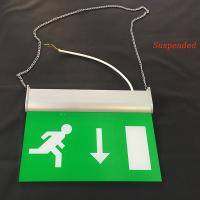 Buy cheap Rechargeable Battery Powered Led Emergency Double Sided Exit Signs 110V - 127V product