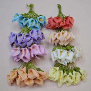 China Common calla lily flower PE foam  Calla aethiopica Wedding flowers and joyful accessories on sale
