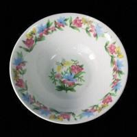 China Porcelain Salad Bowl with Decoration, Round Shape, Health and Durable on sale