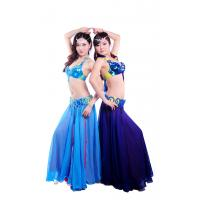 Best Tie dye shinning beaded professional belly dance costumes with circle buckles design wholesale
