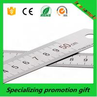 Buy cheap Custom logo promotional  50cm Stainless steel tape measure tool metal ruler  made in China with  Accurate calibration product