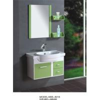 Best 80 X48/cm PVC bathroom cabinet/  wall cabinet /white color with mirror for bathroom wholesale