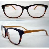 Best Black And Yellow Hand Made Acetate Optical Frames With Demo Lens wholesale