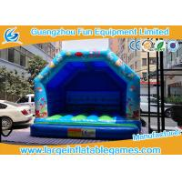 Buy cheap Blue Small Bouncy Castle For Trampolines And Structures / Inflatable Jumping Castle from wholesalers