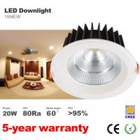 Best Dimmable 20W LED Downlight CREE COB LED Bulb 60 degree beam angle LED Down light wholesale
