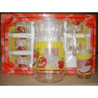 Best 7 PCS Drinking Glasses Gift Set with 8OZ CUP 1.5 L JUG wholesale