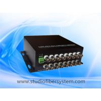 Mini 16CH AHD fiber converter with wall mounted aluminum case,compact desigend for CCTV system