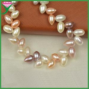 Best Wholesale price mix color drop shape fresh water pearl bead necklace chain wholesale