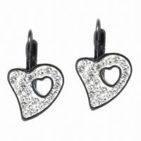Best Earrings, Made of Titanium and Zircon Materials wholesale