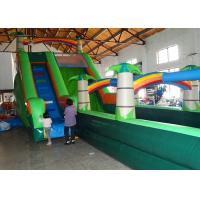 China Multicolored Inflatable Water Slide And Pool , Kids Water Slides Games With Stairs on sale