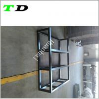 Buy cheap OEM 50x50mm square tube carbon steel with black powder coating metal welding from wholesalers