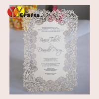 China Handmade menu cards Laser cut Rose flower design wedding handmade menu cards Printing service on sale